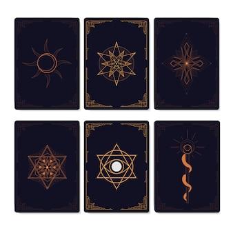 Ensemble de symboles mystiques géométriques