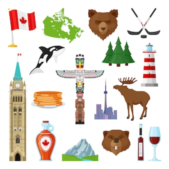 Ensemble des symboles nationaux du canada
