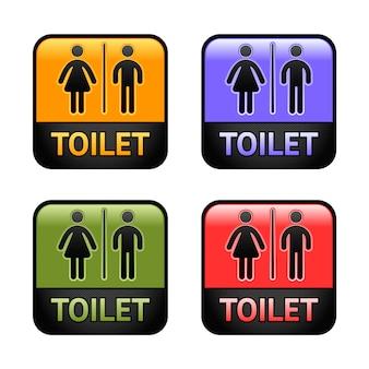 Ensemble de symboles de toilettes
