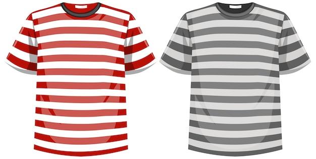 Ensemble de t-shirt à rayures