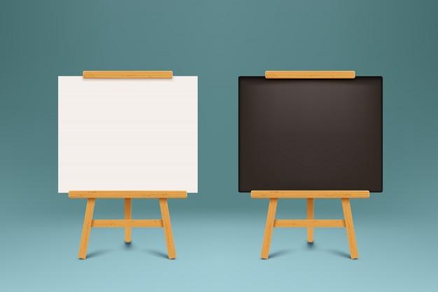 Ensemble de tableaux noirs en bois