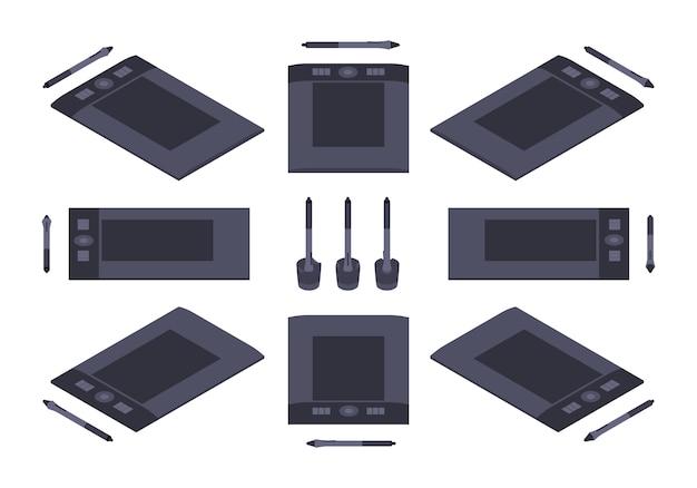 Ensemble des tablettes graphiques isométriques