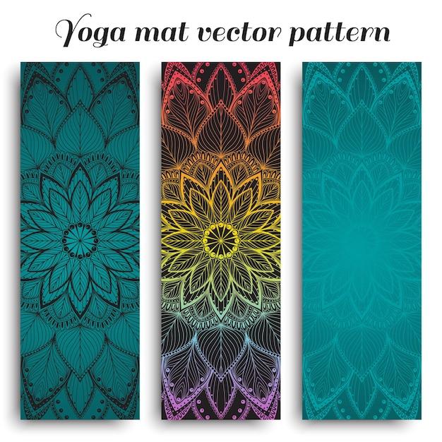 Ensemble de tapis de yoga avec motif mandala
