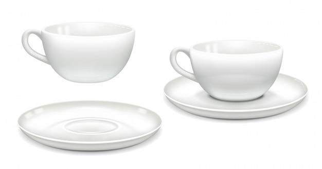 Ensemble de tasses blanches