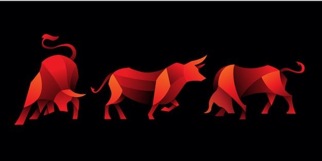 Ensemble de taureau géométrique