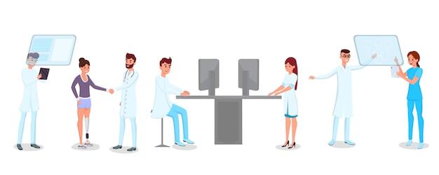 Ensemble de technologie en médecine