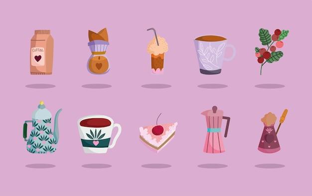 Ensemble de temps de café