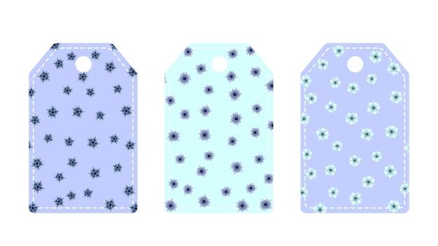 Ensemble tendance coloré d'étiquettes de fleurs florales pour l'emballage de produits cosmétiques