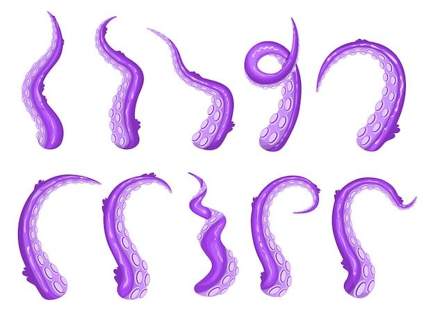 Ensemble de tentacules violets