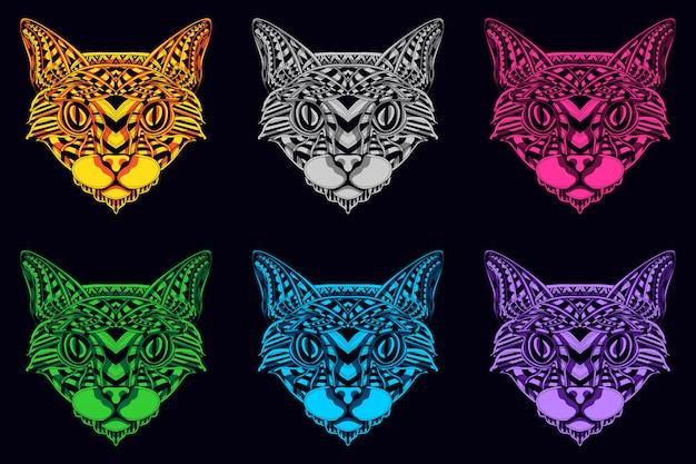 Ensemble de tête de chat