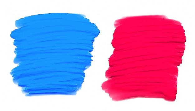 Ensemble de texture aquarelle peinte à la main de deux