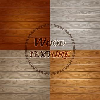 Ensemble de texture bois
