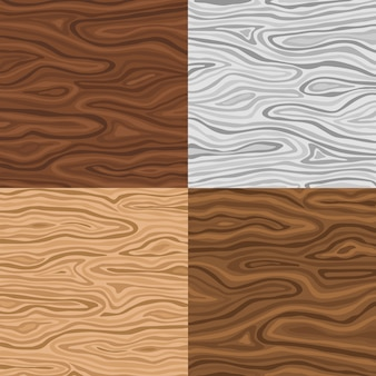 Ensemble de texture en bois