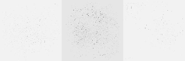Ensemble de texture de grain de grunge. fond de points de pulvérisation abstraite de vecteur pour les affiches, les modèles, le style rétro.