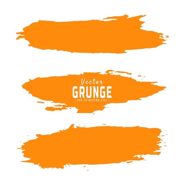 Ensemble de texture grunge abstraite peinte à la main jaune