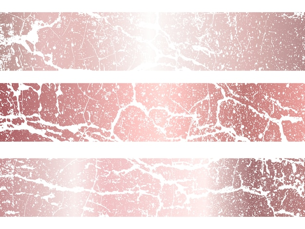 Ensemble de texture métallique en or rose