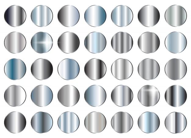 Ensemble de textures argentées