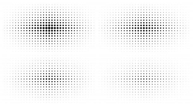 Ensemble de textures de dégradé de demi-teintes. vecteur.