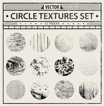 Ensemble de textures grunge - arrière-plans abstraits en noir et blanc.