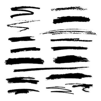Ensemble de textures de pinceau
