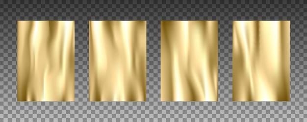 Ensemble de textures réalistes 3d feuille d'or