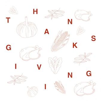 Ensemble de thanksgiving