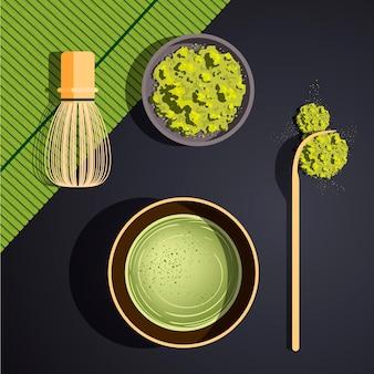 Ensemble de thé matcha