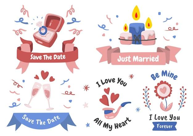 Ensemble de thème de mariage