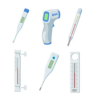 Ensemble de thermomètres de température.