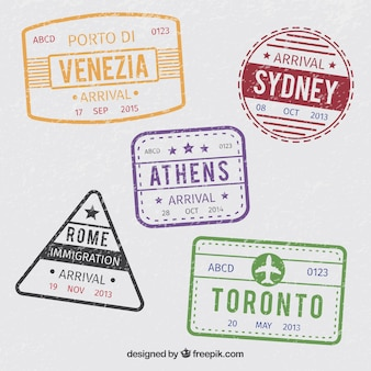Ensemble de timbres de villes anciennes