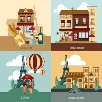 Ensemble touristique parisien