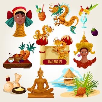 Ensemble touristique en thaïlande