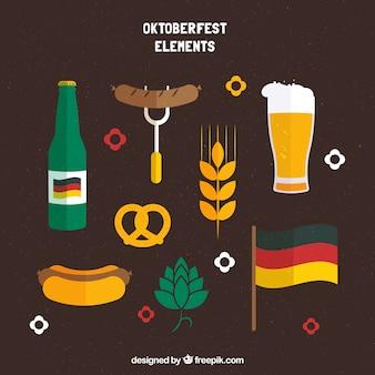 Ensemble traditionnel d'éléments les plus oktoberfest