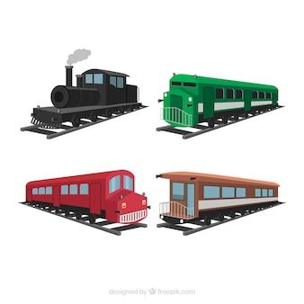 Ensemble de trains anciens