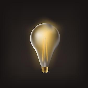 Ensemble transparent d'ampoules incandescentes vintage réalistes et colorées avec lampes incluses de style loft