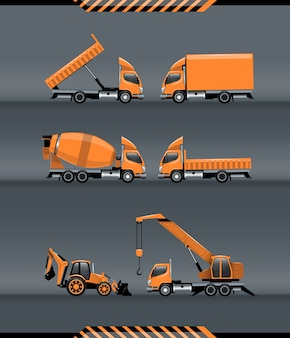 Ensemble de transport de construction