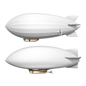 Ensemble de transport dirigeable blimp blank helium