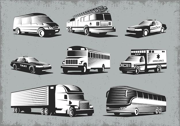 Ensemble de transport de style rétro