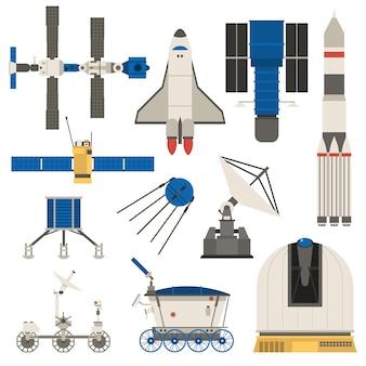 Ensemble de transport de vaisseau spatial.