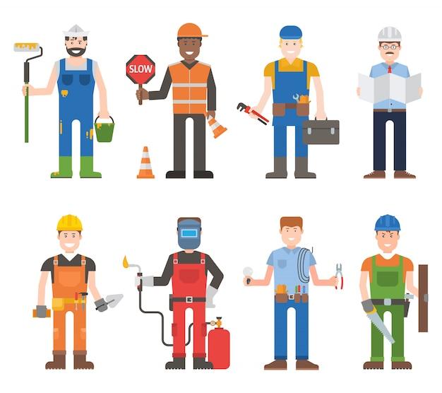 Ensemble de travailleurs homme.