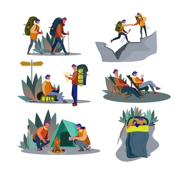 Ensemble de trekking aventure