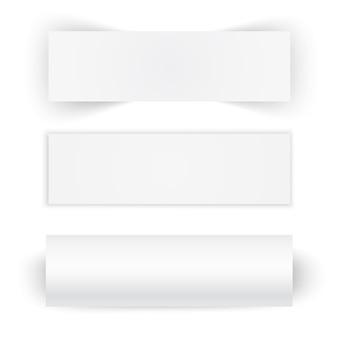 Ensemble de trois banderoles en papier