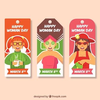 Ensemble de trois étiquettes de jour pour femmes