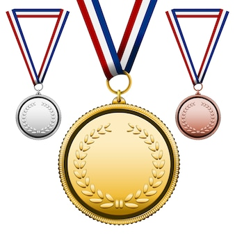 Ensemble de trois médailles