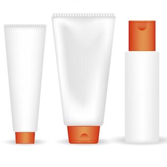 Un ensemble de tubes cosmétiques vecteur
