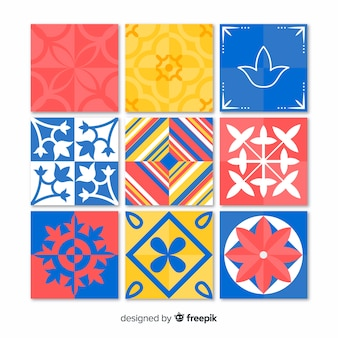 Ensemble de tuiles colorées créatives