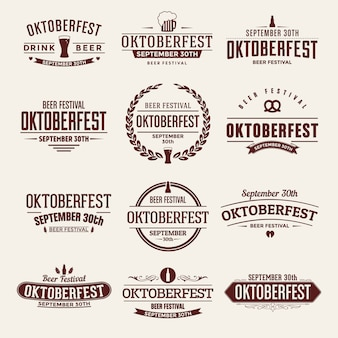 Ensemble typographique oktoberfest