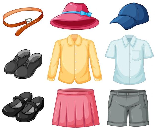 Ensemble uniforme de fille et garçon