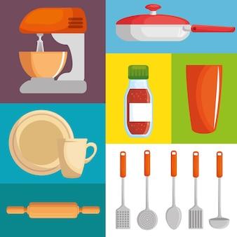 Ensemble d'ustensiles de cuisine