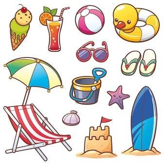 Ensemble de vacances d'été